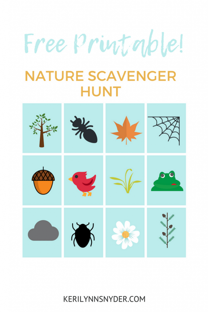 Nature Themed Activities, Free Printable Scavenger Hunt