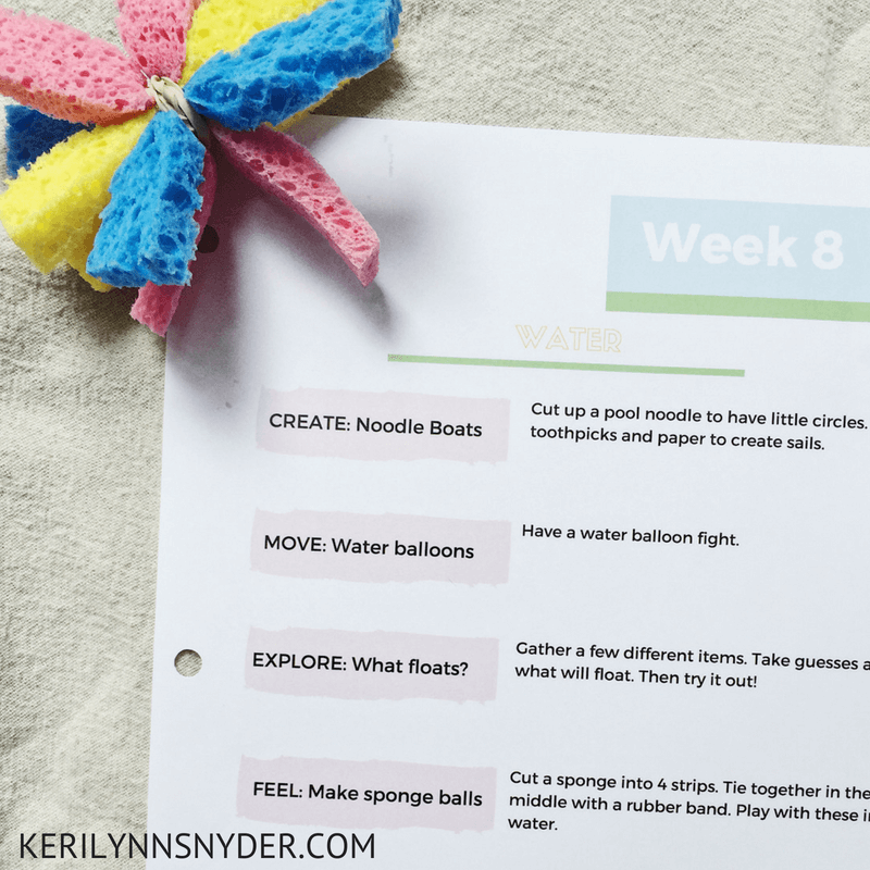 Water Themed Activities, 5 fun activities for kids that involve water and a free printable activity plan