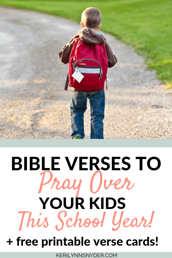 How to pray over your kids.