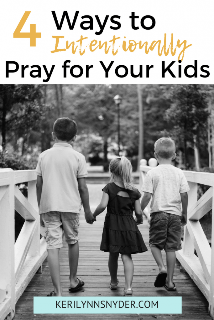Four ways to intentionally pray for your kids every day. Back to School Prayers, Printable prayer cards from Keri Lynn Snyder Lifestyle Blog