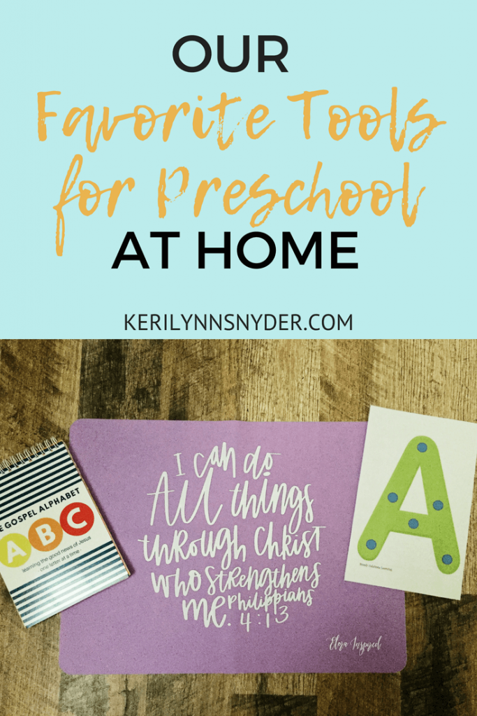 Preschool At Home Tools from Keri Lynn Snyder Lifestyle Blog