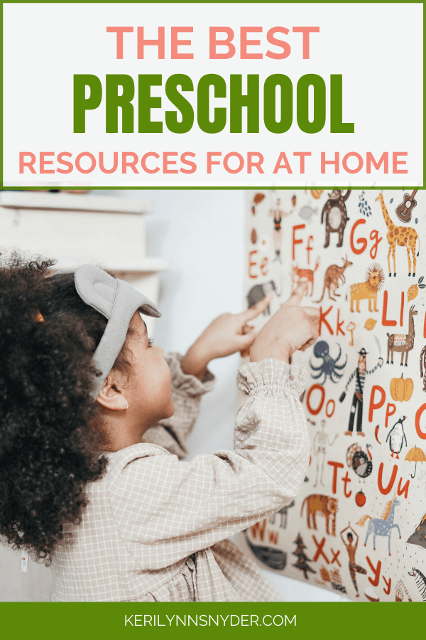 The best tools for preschool at home