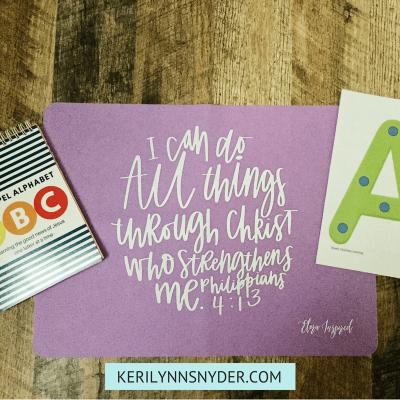 Preschool At Home Tools from Keri Lynn Snyder Lifestyle Blog