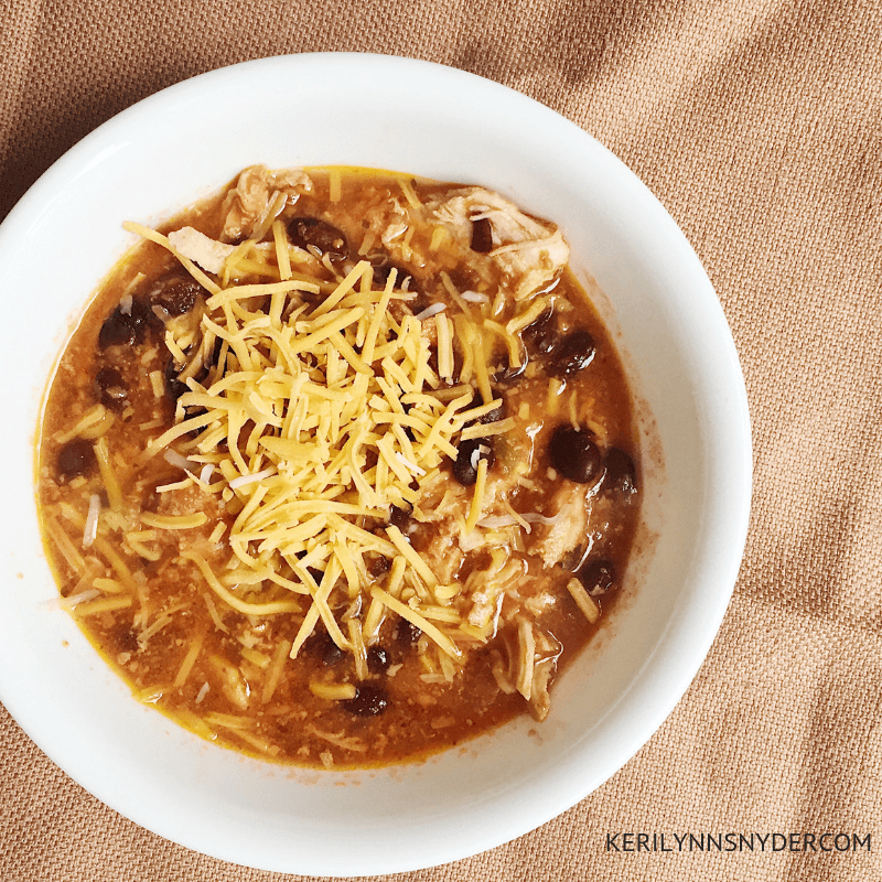 Black Bean Chicken Chili, Easy dinner recipe, Crock pot recipe for busy families, Keri Lynn Snyder Family Lifestyle Blog