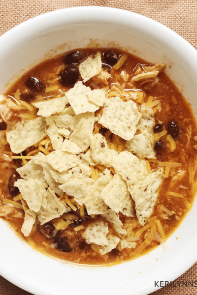 Black Bean Chicken Chili, Easy dinner recipe, Crock pot recipe for busy families, Keri Lynn Snyder Family Lifestyle Blog