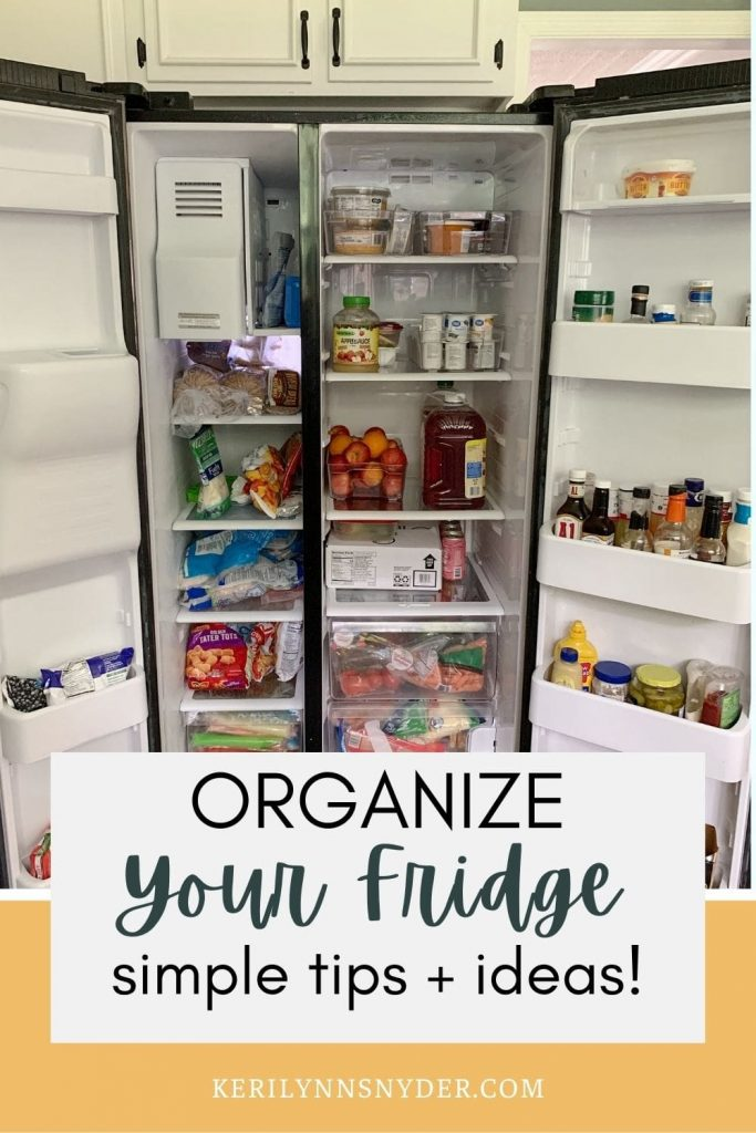 Get an organized fridge with these helpful tips!