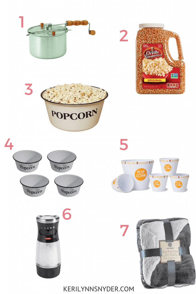 Popcorn fan gift ideas, popcorn fan gift guide, Keri Lynn Snyder, Family LIfestyle Blog