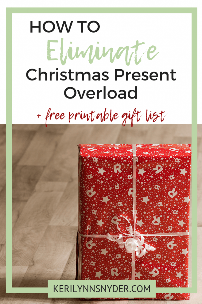 The four gifts rule for Christmas + printable gift list