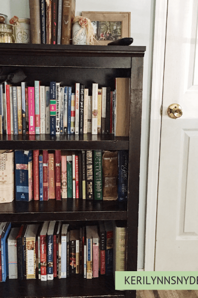 How to declutter and organize books in 3 steps, Keri Lynn Snyder Blog, Family Lifestyle