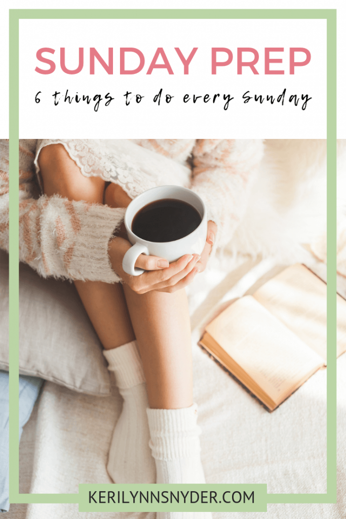 How to plan for the week ahead with Sunday Prep, weekly planning, Keri Lynn Snyder, Charleston Lifestyle Blog