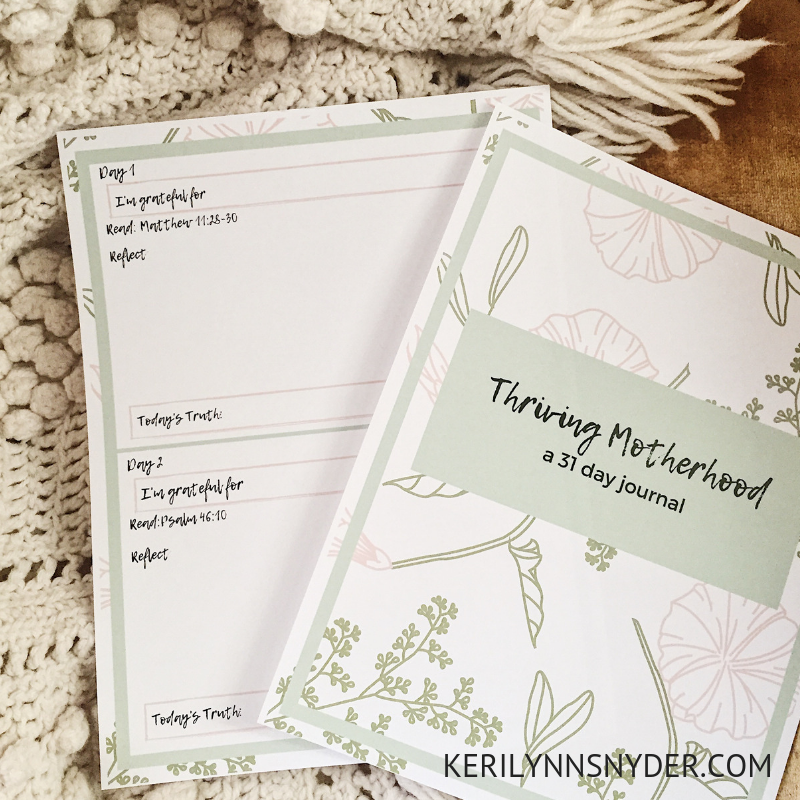 Free Printable Thriving Motherhood Journal