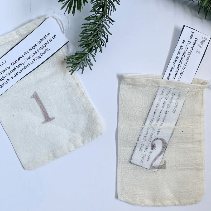 An intentional Christmas countdown with printable daily Bible verses