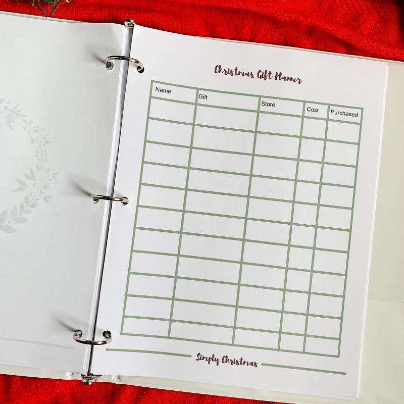 Christmas Planner for Moms