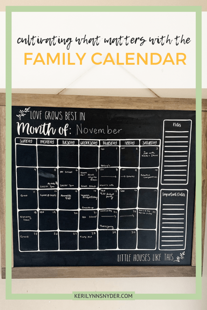 This family calendar will help you focus on what matters and stay organized