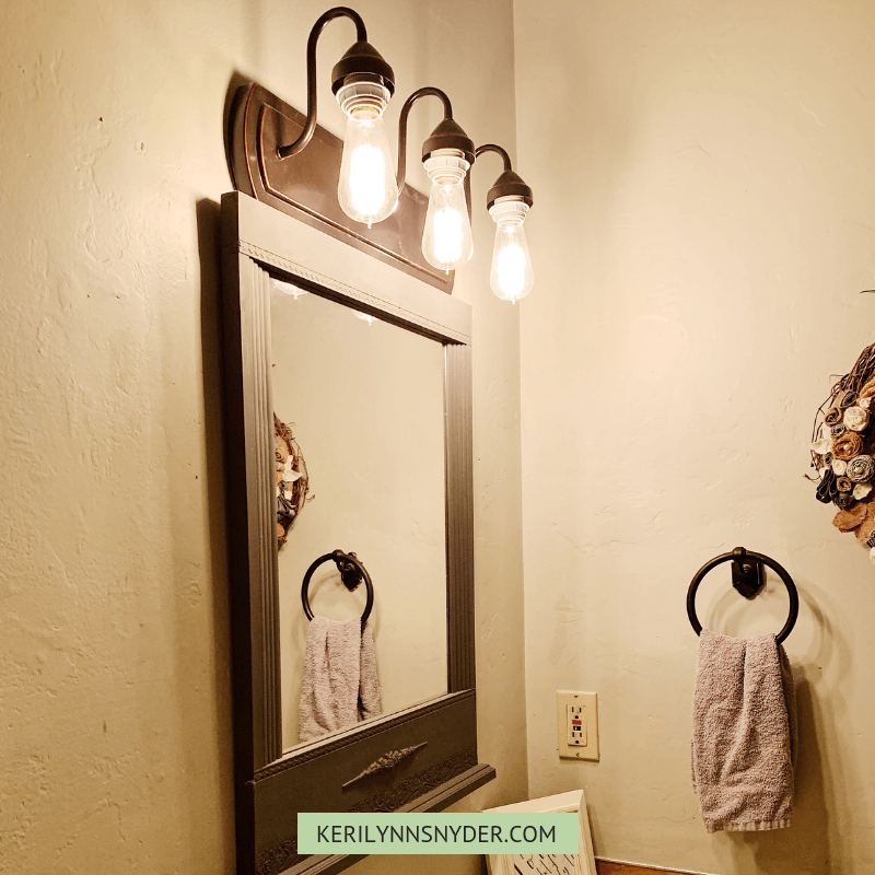 Now that you see how to update the bathroom, you can do a little organizing.