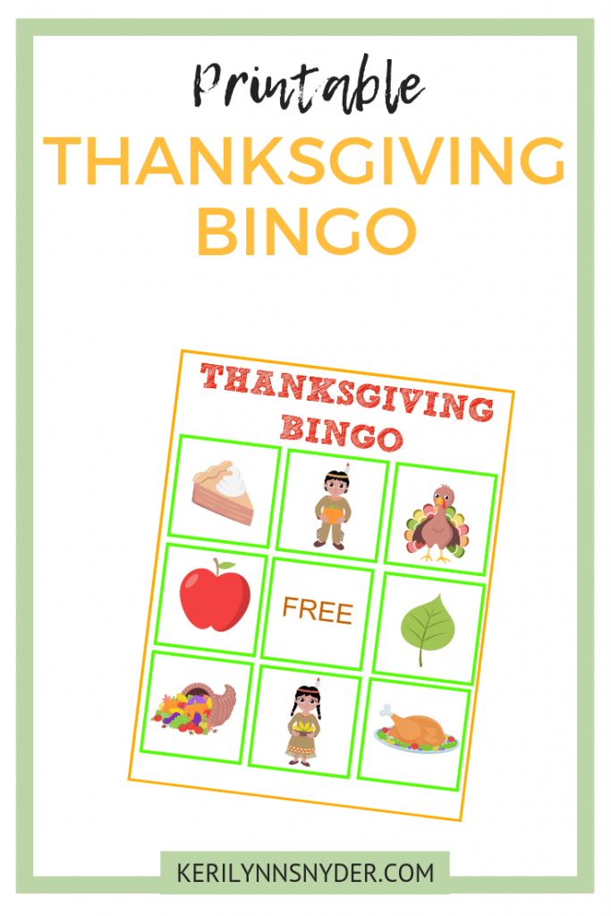 Easy and simple thanksgiving activities for kids, Thanksgiving Printable Bingo Game, Keri Lynn Snyder Family Lifestyle Blog