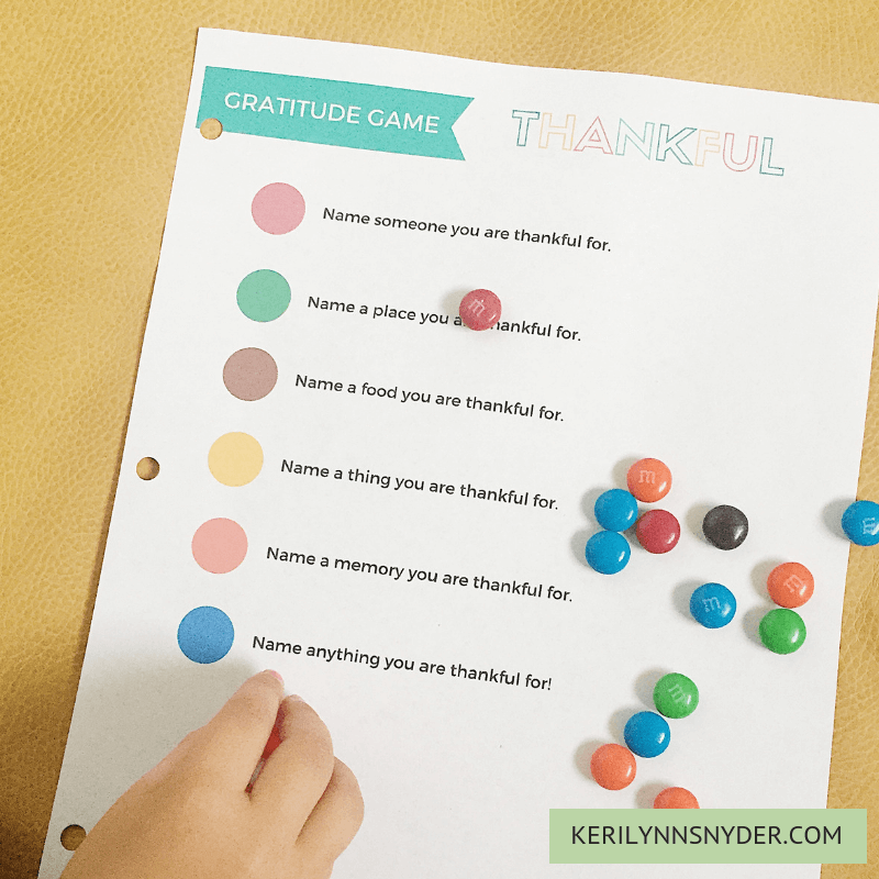 Easy and simple thanksgiving activities for kids, Thanksgiving Printable Gratitude Game, Keri Lynn Snyder Family Lifestyle Blog