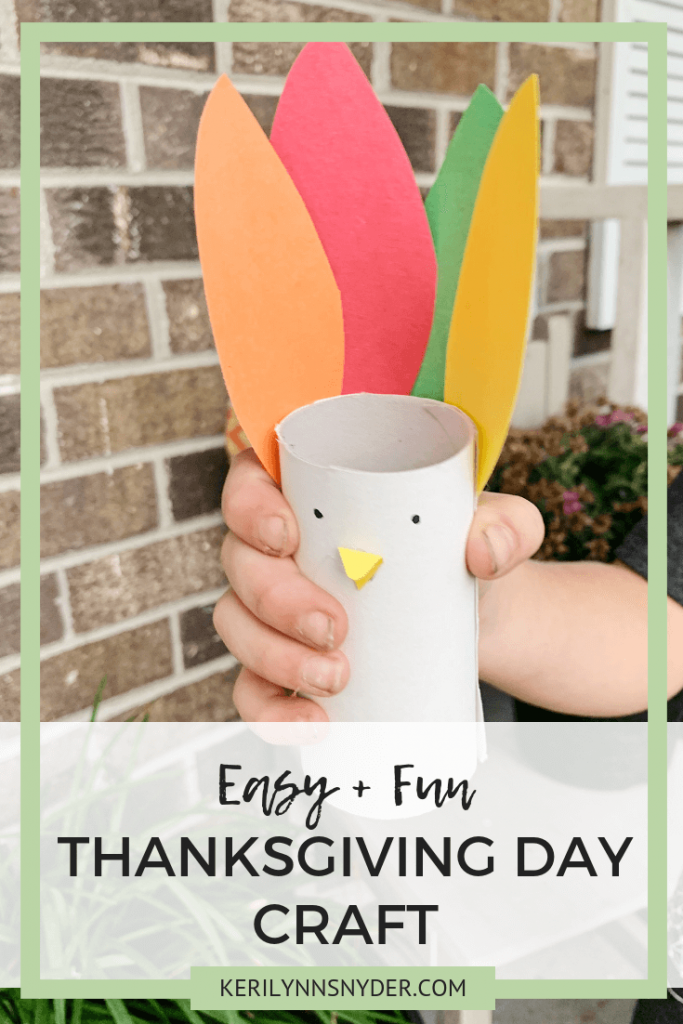 A simple and easy Thanksgiving turkey craft perfect for kids to enjoy on Thanksgiving day!