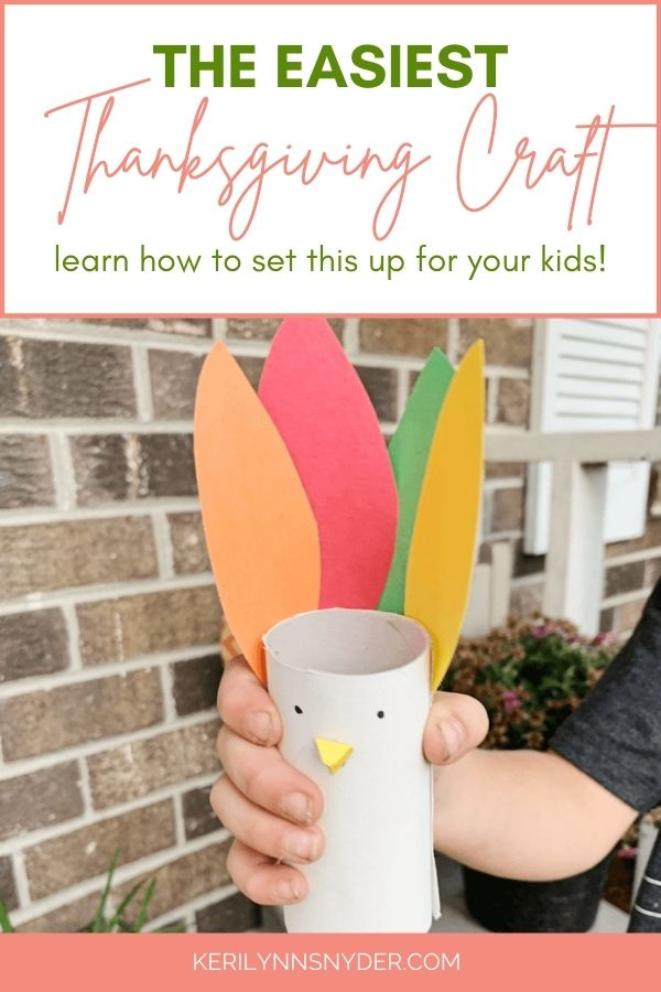 Have fun with this easy Thanksgiving craft for kids! Plus, learn how to set it up for kids to do while you cook.