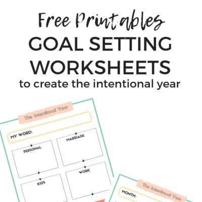 Free Printable Goal Worksheets, Set goals using these worksheets, Keri Lynn Snyder Lifestyle Blog
