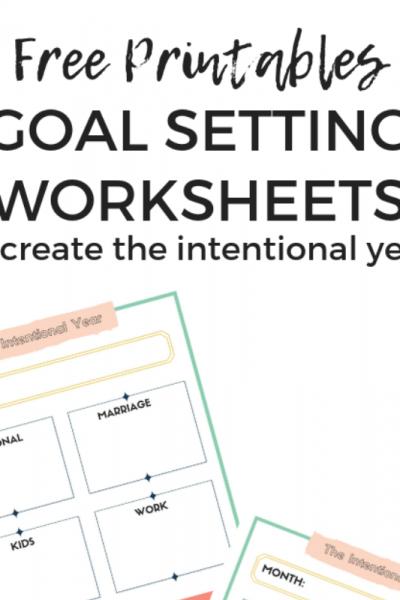Free Printable Goal Worksheets, Set goals using these worksheets, Keri Lynn Snyder Lifestyle Blog