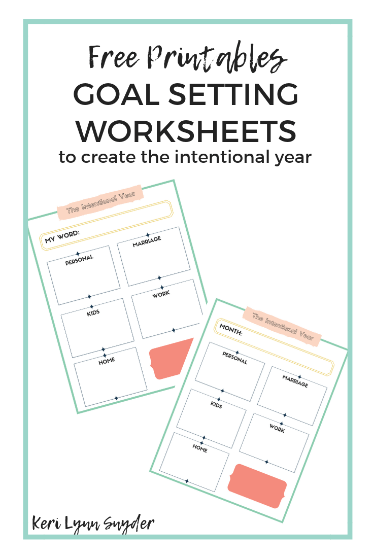photo regarding Goals Printable named Ideas for Surroundings Targets + Cost-free Worksheets - Keri Lynn Snyder