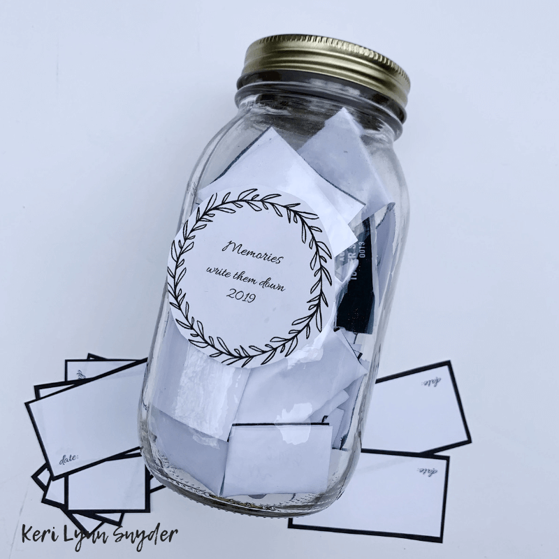New Year's Eve Family Activities, Create your own Memory Jar, Keri Lynn Snyder, Lifestyle Blog