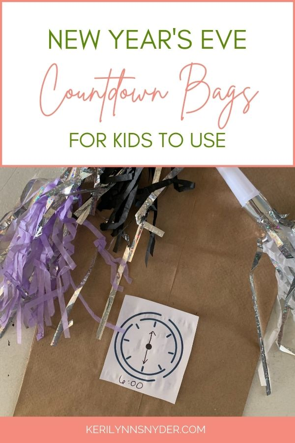 A fun New Year's Eve family activity! New Years Countdown Bags