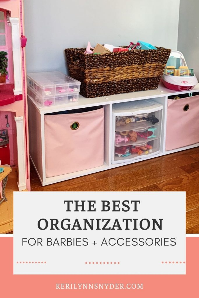 The easiest way to organize Barbies and their accessories.