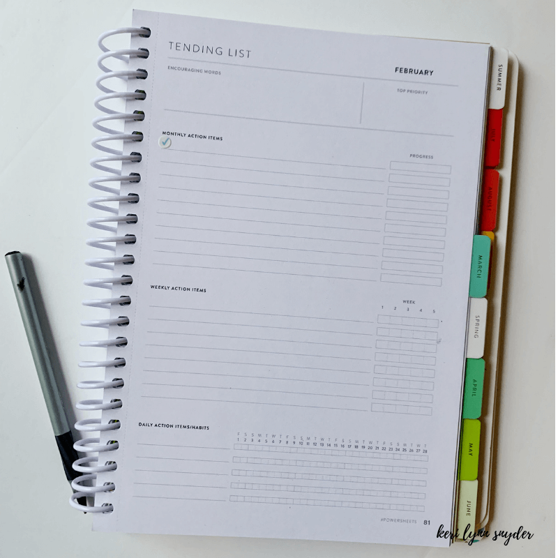 Setting February Goals, Why I love Powersheets, Goal Setting Tool, Keri Lynn Snyder Family Lifestyle Blog