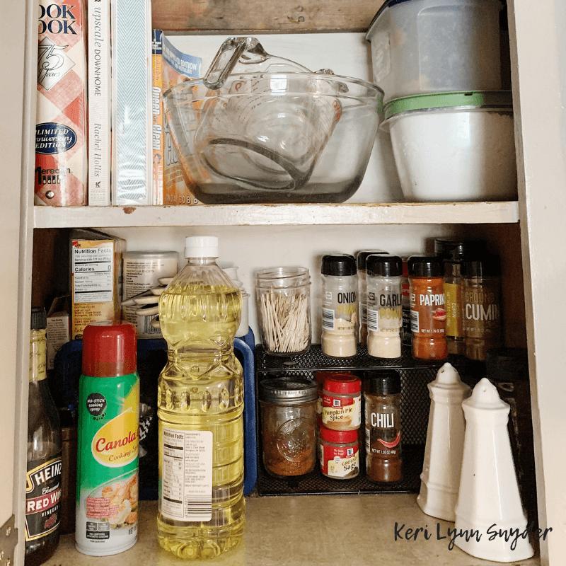 Kitchen decluttering and organization tips, Keri Lynn Snyder lifestyle blogger