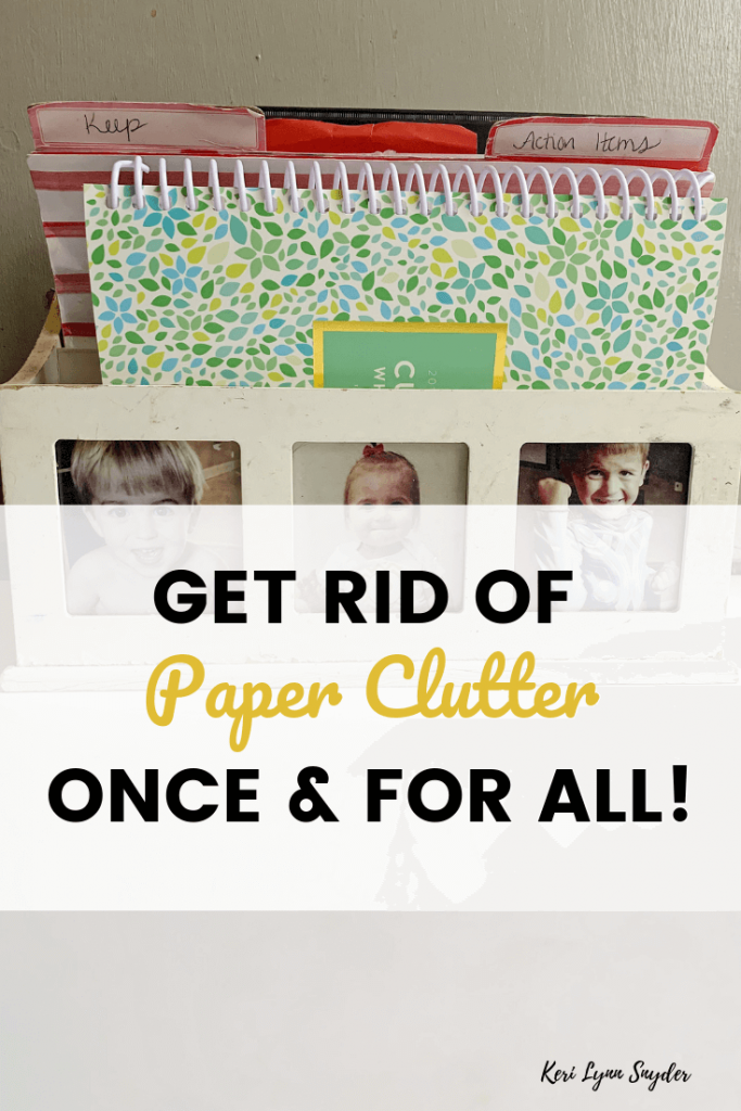 How to get rid of paper clutter, how to organize paper clutter in the kitchen