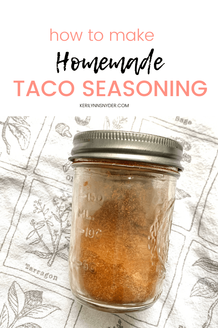 How to make your own taco seasoning, the best taco seasoning recipe!