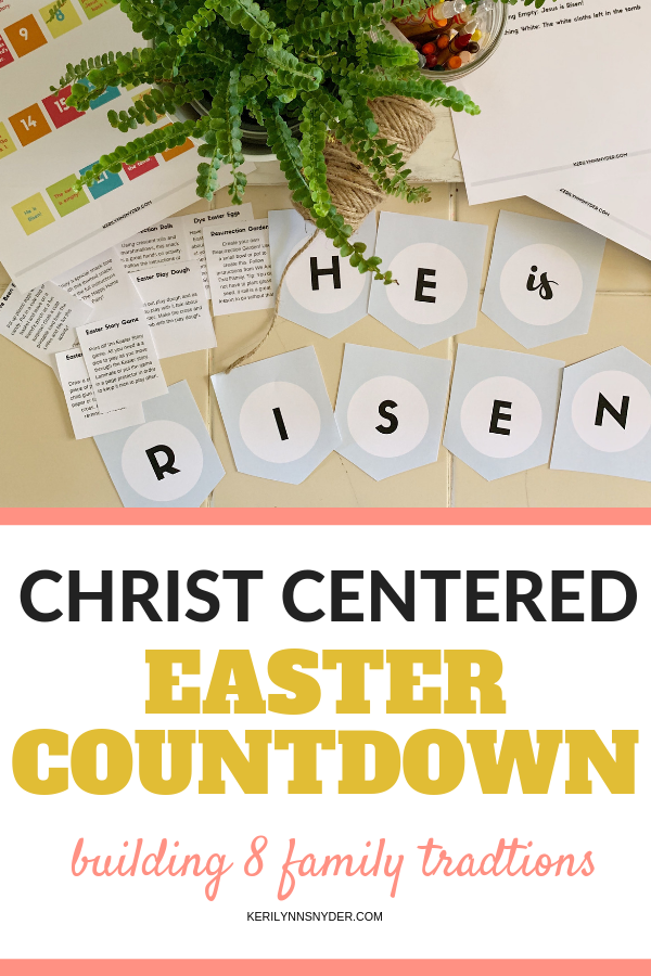 Easter Countdown Banner, Plant