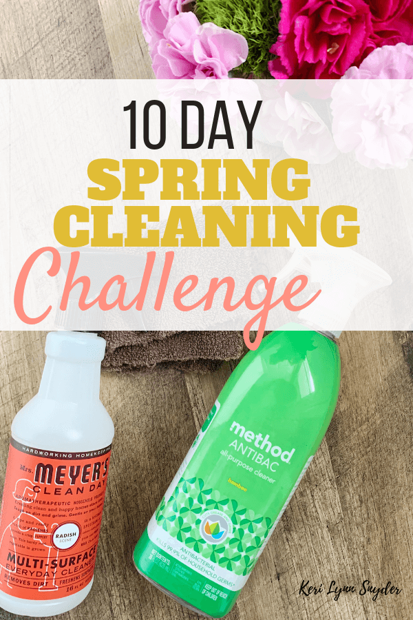 Join the 10 day spring cleaning challenge and download the free printable checklist.