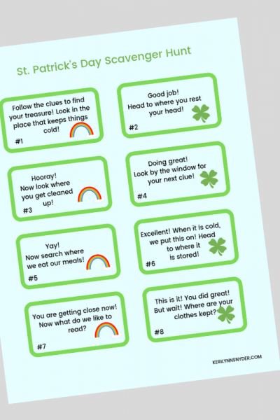 Free Printable St Patrick's Day Printable, Printable game