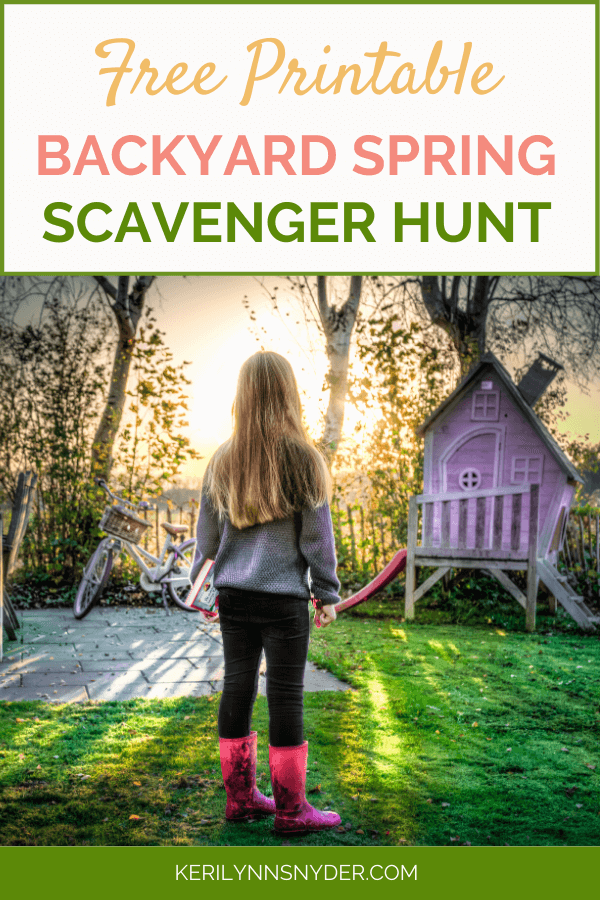 Spring Backyard Scavenger Hunt