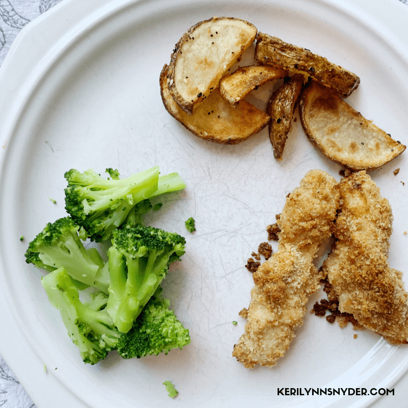 The easiest chicken fingers