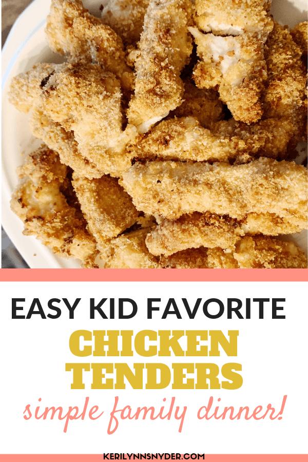 Easy family dinner idea, Chicken Fingers