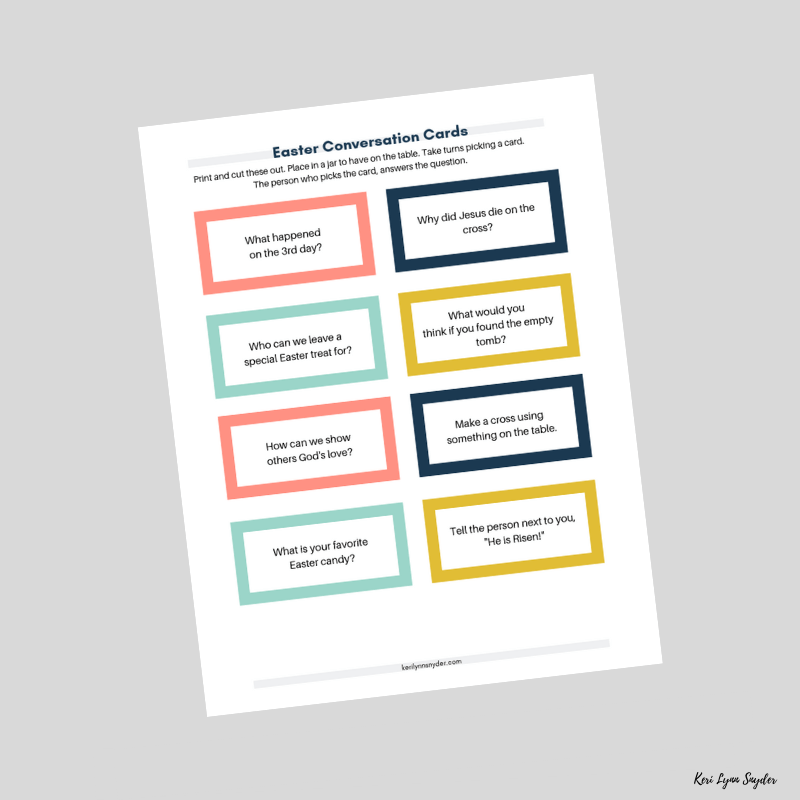 Free Printable Easter Conversation Cards