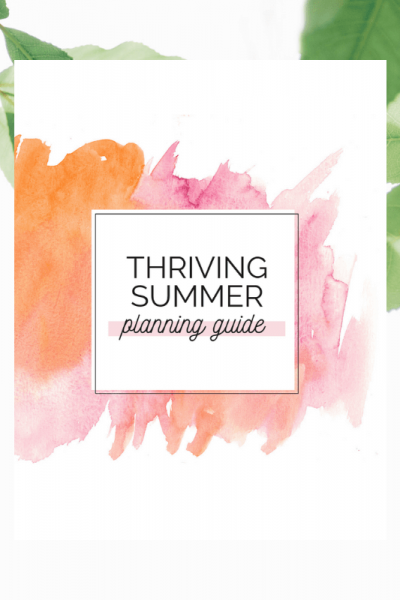 Summer planning guide