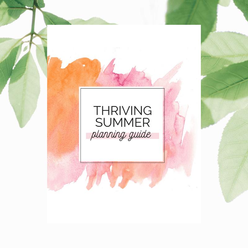 Summer planning guide