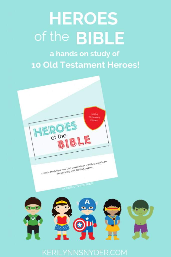 Looking for ways to point your kids to Jesus? The Heroes of the Bible Activities pack is full of simple ideas to teach kids about the Old Testament heroes. This hands on study of 10 Old Testament Heroes and is perfect for family devotions, VBS, school, etc.