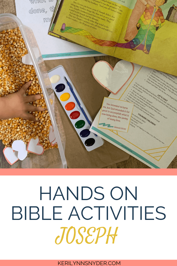 Looking for ways to teach your kids about heroes of the Bible? Your kids will love these hands on activities centered on Joseph!