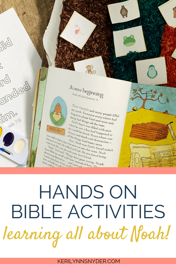 Heroes of the Bible: Hands on activities to teach kids about Noah, Make sure to head over to get the Heroes of the Bible Activity Pack!