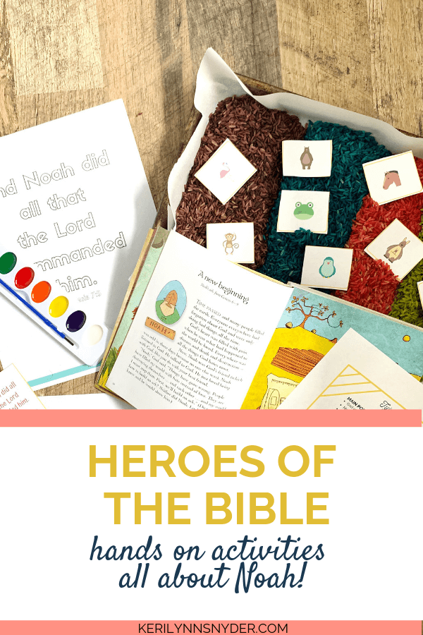 Heroes of the Bible activities for kids! Hands on activities to teach kids about Noah.