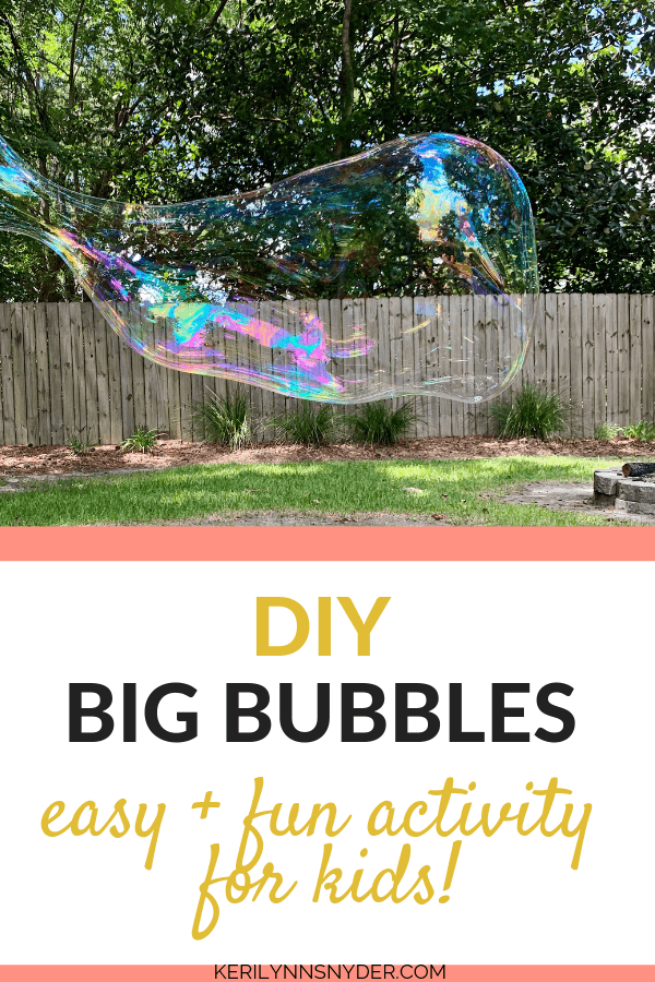 Learn how to make your own DIY big bubbles plus bubble wands! This is a favorite summer tradition to start!