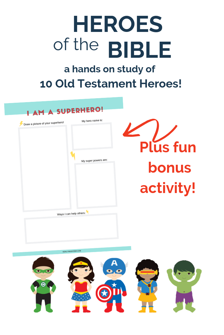 Heroes of the Bible: Learn about 10 Old Testament Heroes with hands on activities plus bonus activity!