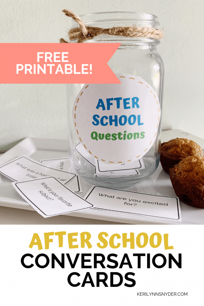 Get free after school conversation cards printable!