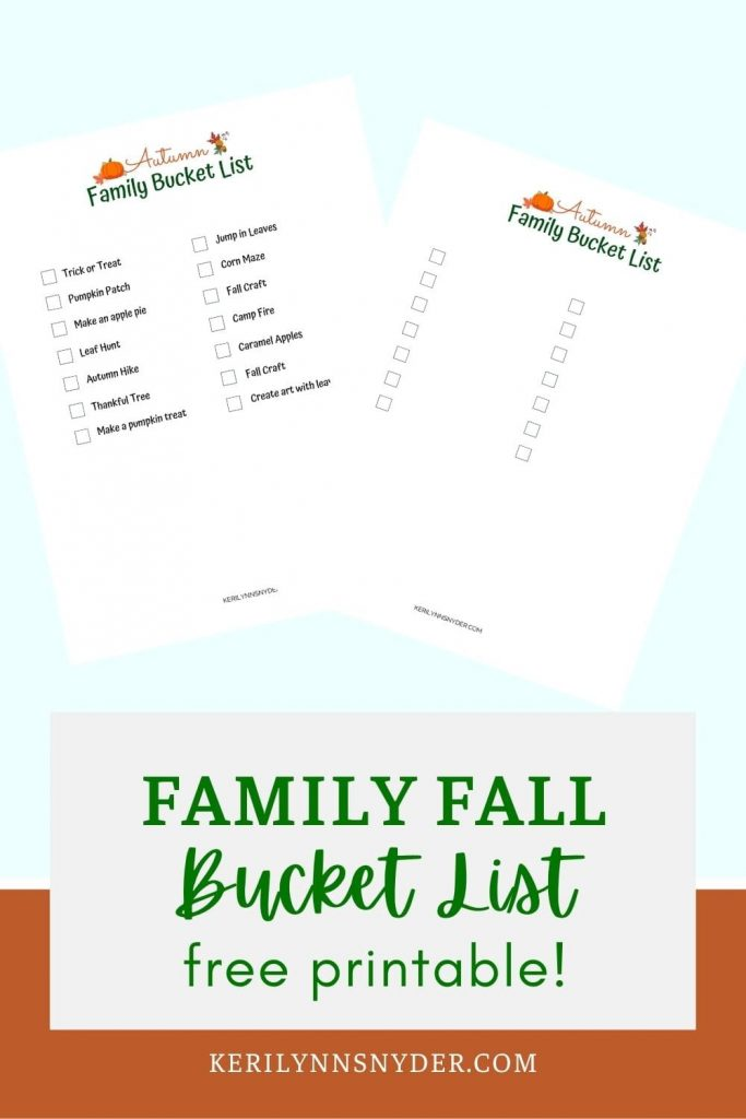 Get the fall bucket list to plan out fun activities for your family!
